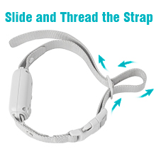step 2: Slide and thread the strap