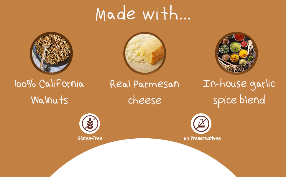 crazy go nuts garlic parmesan walnut peanut cashew almond cheese snack amazing great good shelled