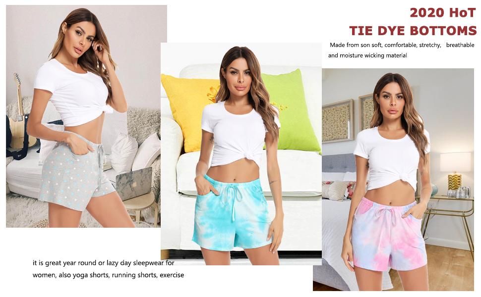 tie dye bottoms for women