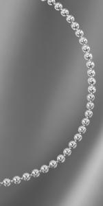 Bracciale in argento con catena a pallina