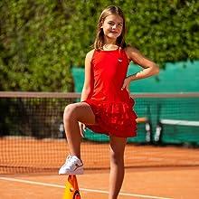 Red Frill tennis dress
