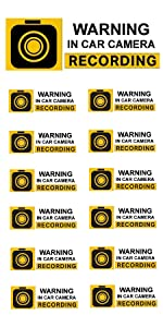 anti-Theft Security Surveillance Camera Audio Video Recording Front Adhesive Window Sticker Decal