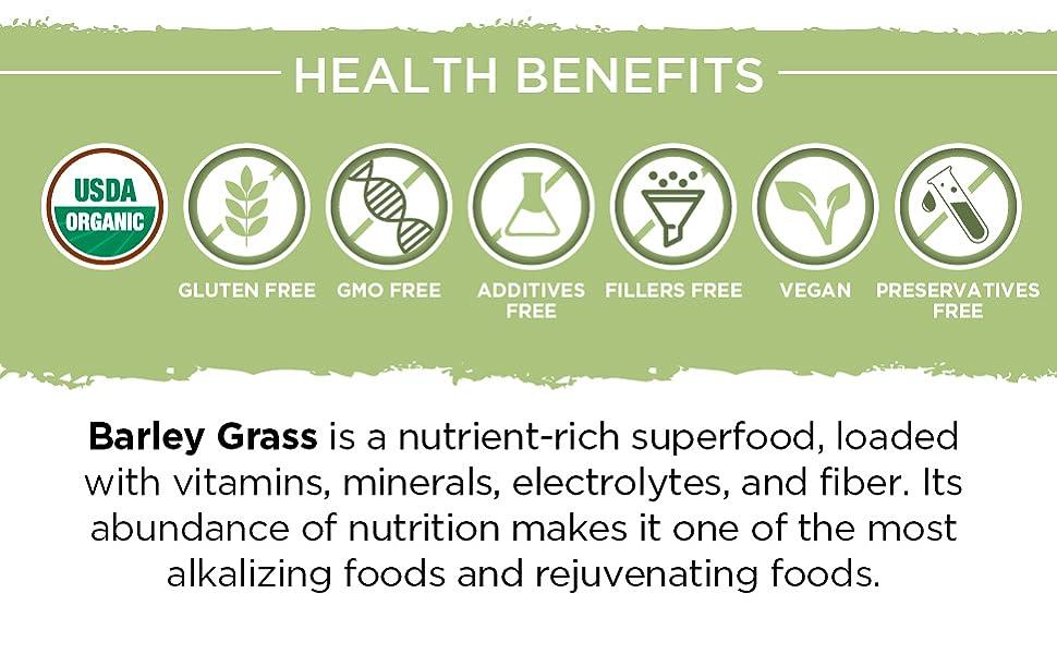 barley powder grass juice organic extract antioxidant gluten free vegan protein green superfood