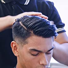 Applying pomade to hair evenly