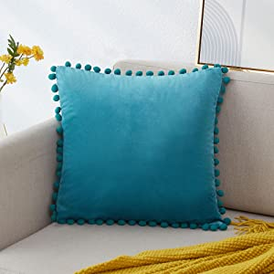 teal pillow covers