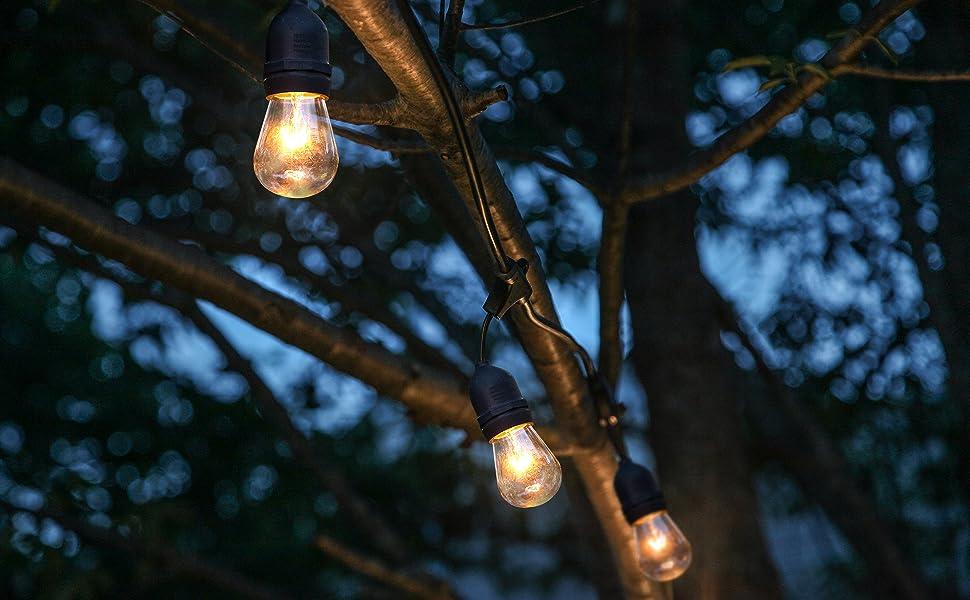 Brightech Ambience Pro - Waterproof Outdoor Incandescent String Lights