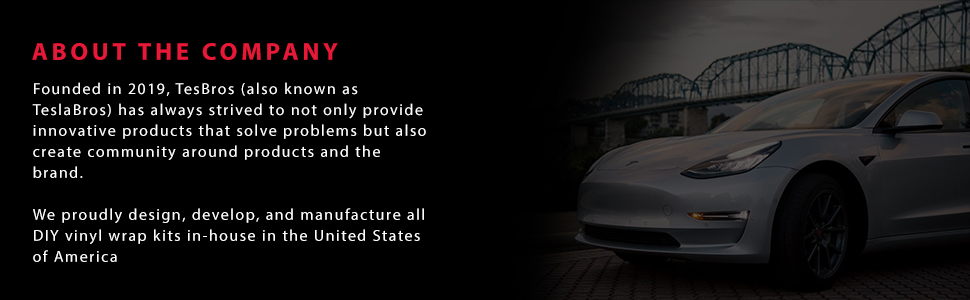 Tesla Model 3 Accessories Made with 3M Automotive Vinyl and Designed and Made in The USA Satin Black Comes with 2 Full Black Out Kits TESBROS Tesla Model 3 Chrome Delete