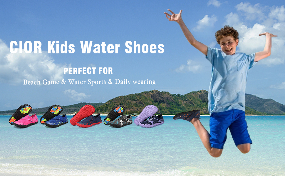 IOR Boys amp; Girls Water Shoes Quick Drying Sports Aqua Athletic Sneakers Lightweight Sport Shoes