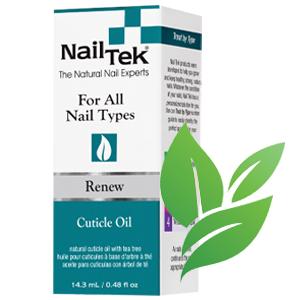 Nail Tek Renew, Natural Cuticle Oil with Tea Tree amp; Vitamin E,  0.48 oz