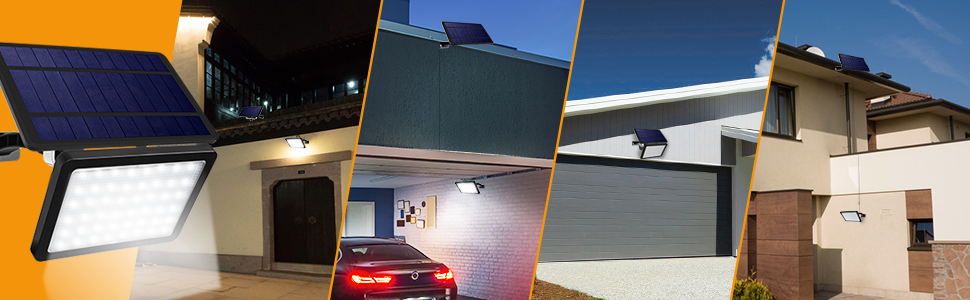 Solar driveway light suitable location