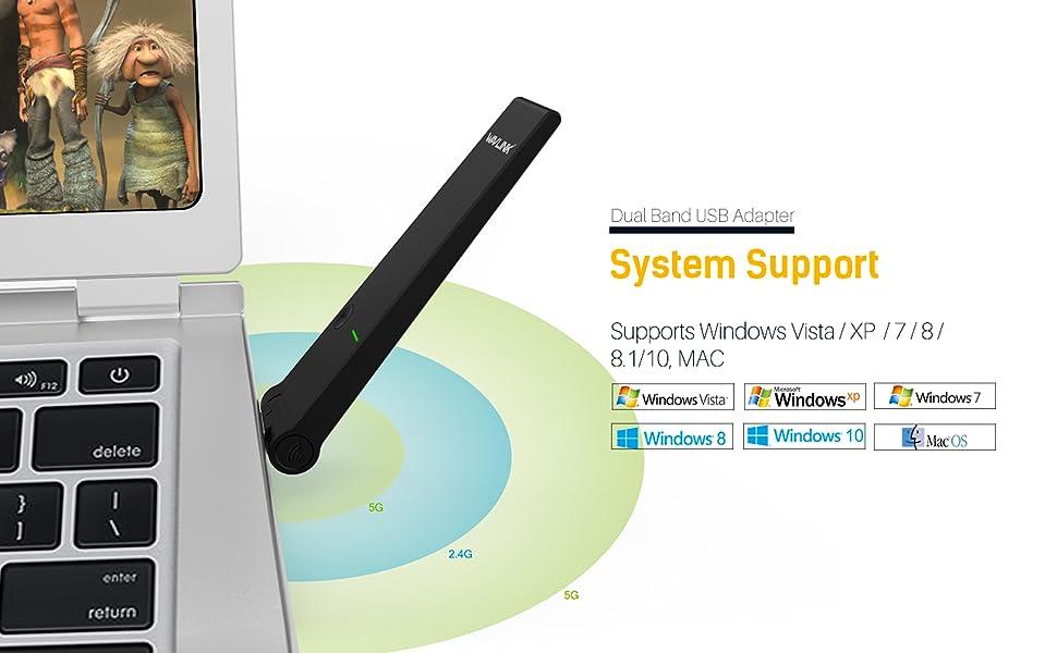 AC1300M Wireless Dual Band USB3.0 Adapter