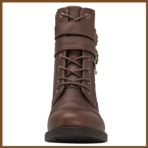 Combat boots for those rainy, snowy and cold days.