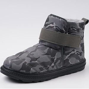 grey camo snow boots outdoor
