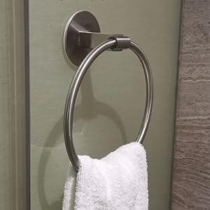 towel ring bar holder rack no drill stick on