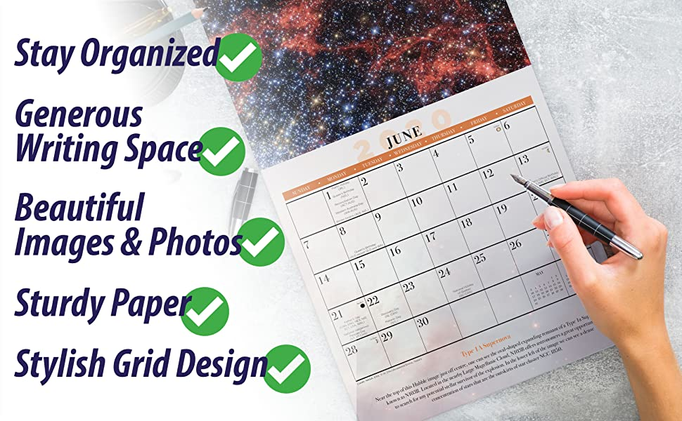 Wall Calendar Space Hubble