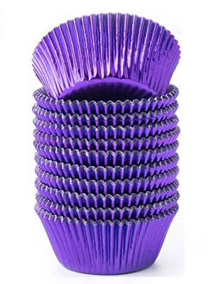 Purple Cupcake Liner Lavender Cupcake Liner Lavender White Cupcake Liner NEW Purple /& White Heavy Duty Cupcake Liner Collection Qty 30