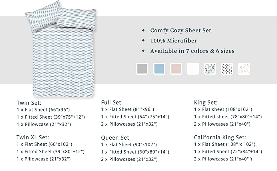 bed sheets set