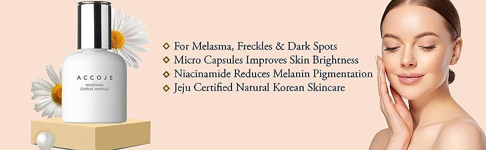 Accoje, Korean product, Korean Skincare, Wonderskin,ACCOJE WHITENING CAPSULE AMPOULE