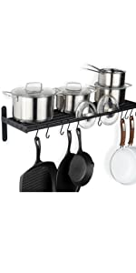 kitchen organizers and storage pots and pans set cooking utensils stainless steel pots and pans rack