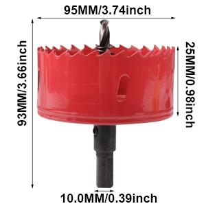Rohr Trockenbau KATUR M42 HSS Bimetall-Lochs/äge 75 mm Holz Loch/öffner-Bohrer mit positiven Rechenz/ähnen f/ür Eisen Faserplatten Kunststoff Aluminium