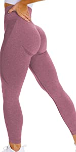 Women High Waist Workout Gym Smile Contour Seamless Leggings Yoga Pants Tights