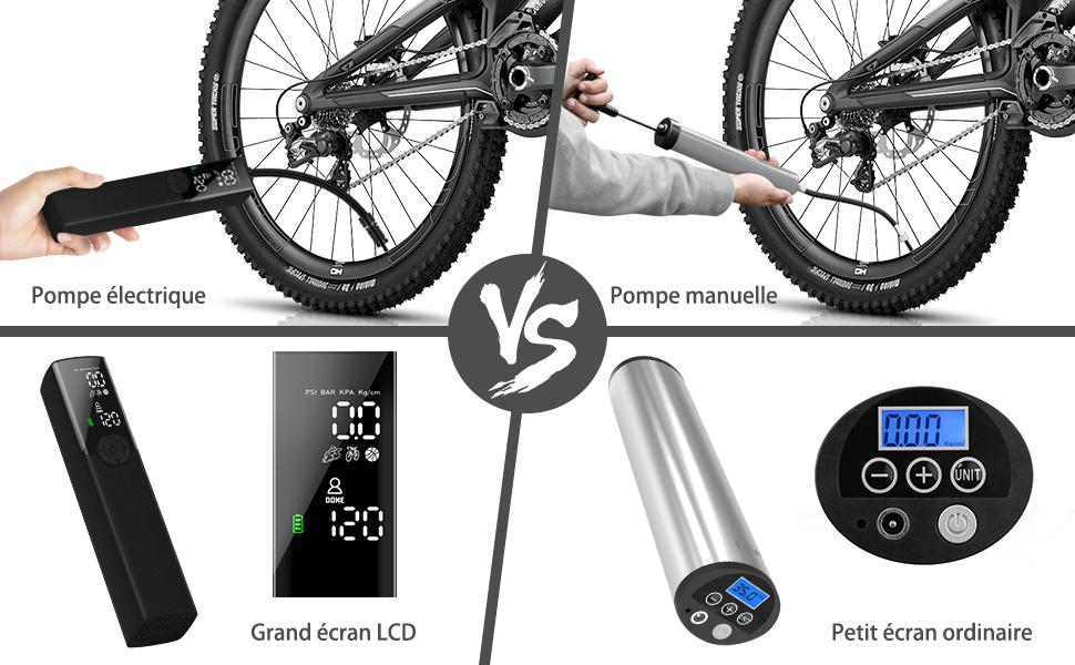18CM Moto Vélo Électrique Haute Pression Mini Portable Basketball Pompe Kits