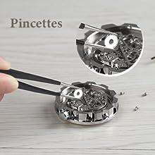 Pincettes pour le remplacement de la pile de la montre