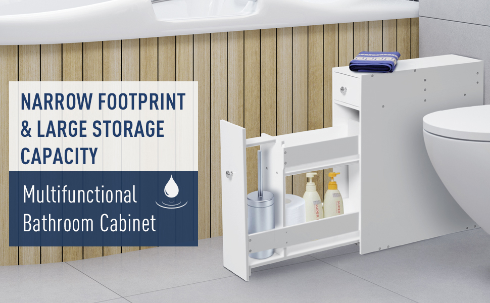 toilet paper thin office home slender shallow minimalist compact tiny container bins shelves box