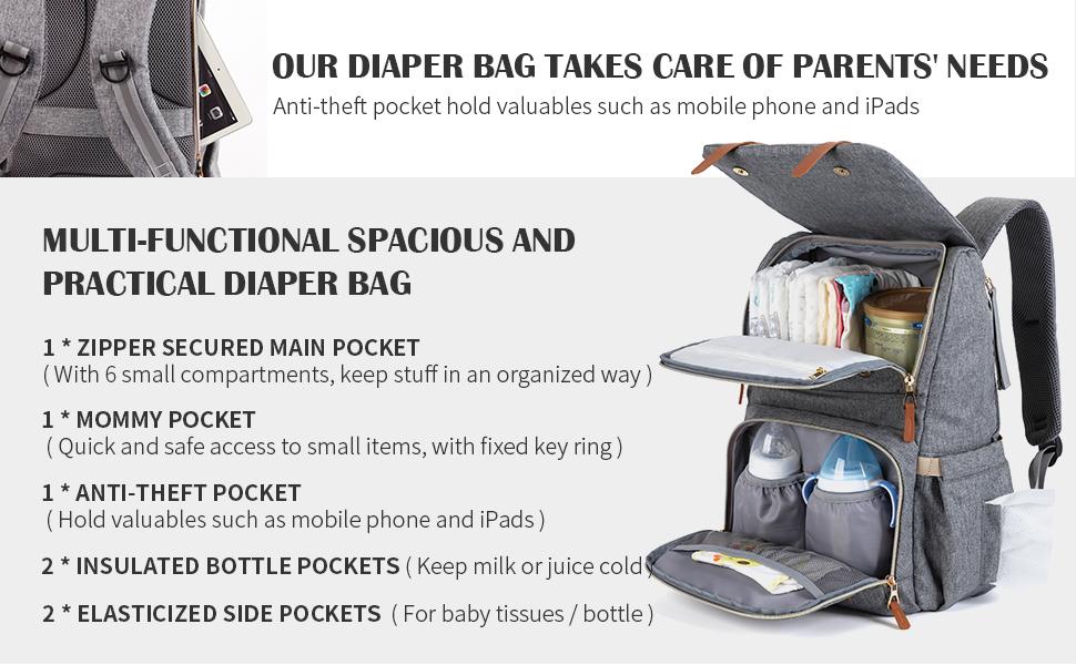 baby diaper back pack for girl