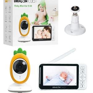 Moniteur non Inclus Dragon Touch Cam/éra de Surveillance Forfait Individuel pour Babyphone E40