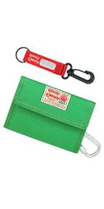 Rough Enough Canvas Green keychain Wallet for Boys Kids Men Front Pocket Wallet Credit Card Holder