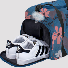 duffle bag shoe pocket