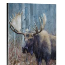 fall moose study canvas staging