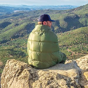 Get Out Gear Down Quilt Olive Mike Stonewall Peak Warm Compact Lightweight