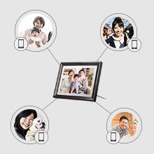デジタルフォトフレームのユーザー管理