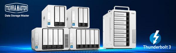 thunderbolt storage, thunderbolt 3 storage, thunderbolt 3 enclosure, hard drive enclosure, das raid