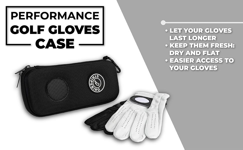 golf glove case, golf glove holder, golf bag accessories