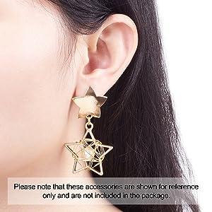 LiQunSweet 20 Sets Ball 4mm Brass Earrings Ear Studs Posts Flat Pad with Butterfly Earring Backs for Earring Jewelry DIY Making Findings
