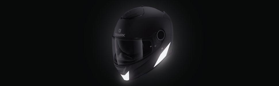 spartan, réfléchissant, sticker, casque, noir