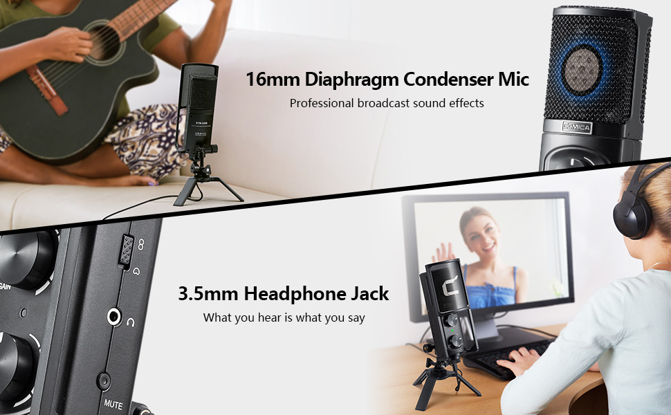 comica professional USB microphone consender mic broadcast microphone cardioid