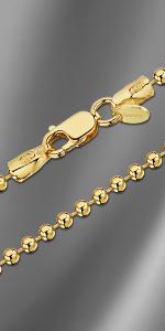Collana con catena a pallina placcata oro