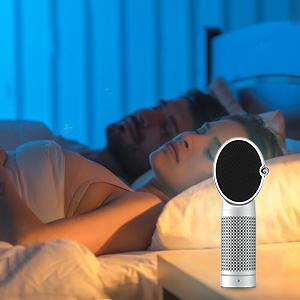 Allergen Air purifier Night Light, Ionizing Air Purifier Fan, Office Desk Air Purifier Carbon Filter