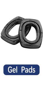 PROHEAR GEP02 Gel Ear Pads for Howard Leight by Honeywell Impact Earmuffs