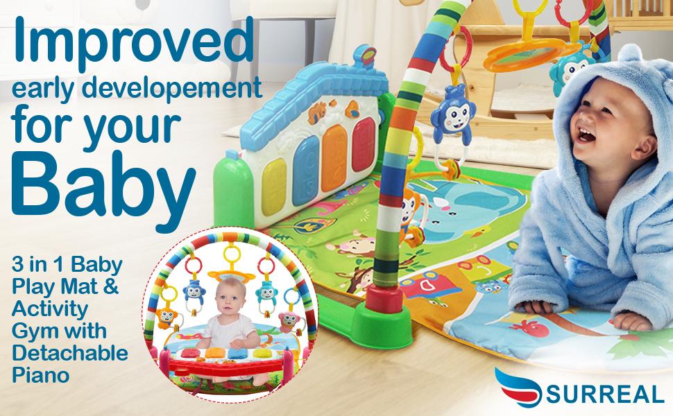 Newborn Baby Jungle Gym Play Mat /& Baby Bouncer Bouncing Chair
