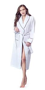 lightweight waffle cotton bathrobes for women and mens