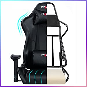 gaming chair with footrest PC computer video game chair racing gamer chair computer gaming chair