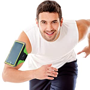 COOLDOT Brazalete Deportivo LED Soporte Teléfono Smartphone Banda Ajustable Bolsillo para Tarjeta/Llaves - Compatible iPhone 6 / 6S Samsung Galaxy S7 Móviles 6.6 Pulgadas - No Necesita Baterías: Amazon.es: Deportes y aire libre