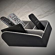 remote control holder tablet holder iPad holder blue organiser