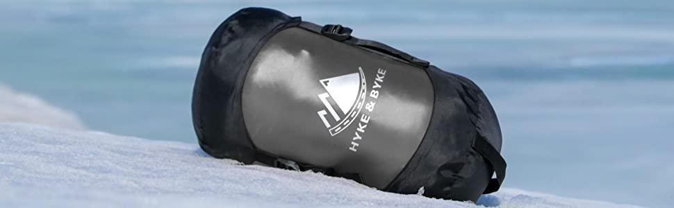 Hyke & Byke Snowmass -15ºC Saco de Dormir de Plumón - Saco de Dormir Adulto Momia con Base ClusterLoft Ligero para Excursiones y Camping – Camping ...