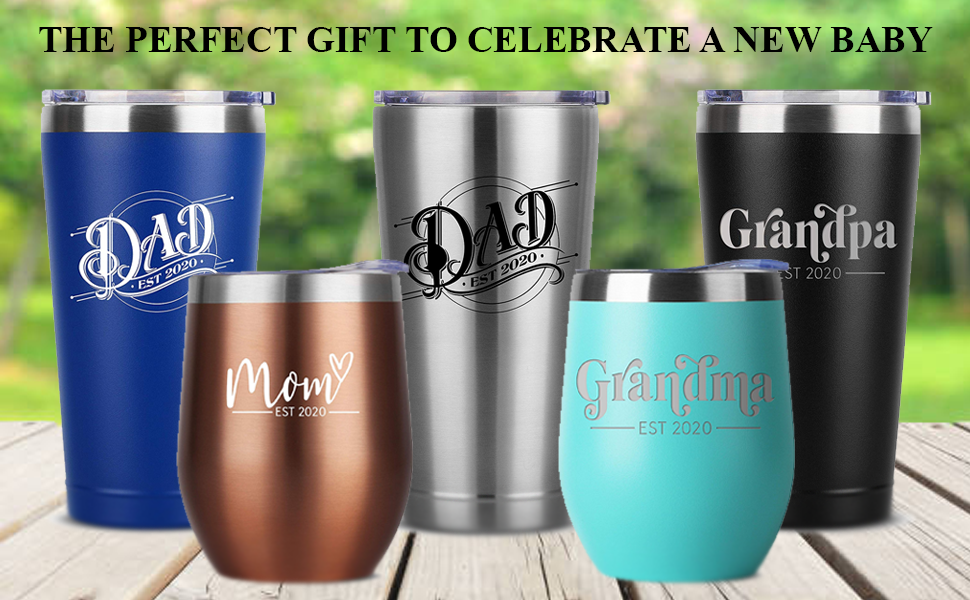 new baby birthday gifts gift for women and men him her tumbler tumblers stainless steel insulated